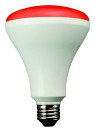 TCP 12 Watt BR30 LED 120V 850 Lumen 82 CRI Medium (E26) Base Red Shatter Resistant Dimmable Bulb (LED12BR30DRD)