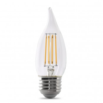 Feit Electric Led B10 60w Equivalent 500 Lumens Filament Clear Gl Dimmable
