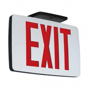 Awesome Best Lighting Products LED Double Faced Thin Die Cast Aluminum Exit Sign  With Red Letters Amazing Design