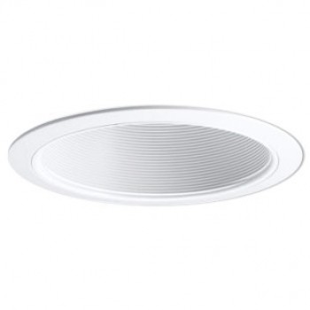 Recessed lighting canisters recessed cans nora 6 stepped baffle trim white with white plastic ring br30 max bulb diameter aloadofball Image collections