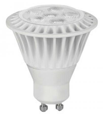 TCP 7 Watt MR16 LED 3000K 120V 525 Lumen 82 CRI Twist and Lock (GU10) Base Dimmable Flood Bulb (LED7MR16GU1030KFL)
