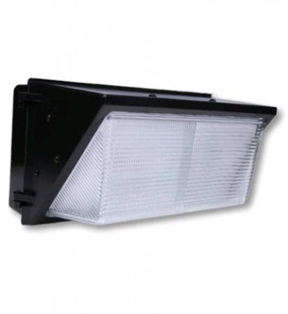 Cree 96 Watt LED Traditional Wallpack with Prismatic Glass Lens - 4000K 120V-277C 70 CRI 8600 Lumen Dark Bronze Fixture (C-WP-A-TRAD-8L-40K-DB)