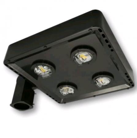 Cree 119 Watt LED Type V Distribution Shoe Box - 5000K 120V-277V 70 CRI 15,200 Lumen Dark Bronze Fixture - DLC Premium (C-AR-A-SQT5-15L-50K-DB)
