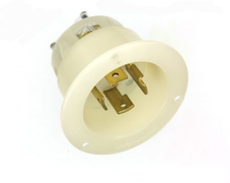 30 Amp 480 Volt 3 Phase Locking Grounding Connector Black White