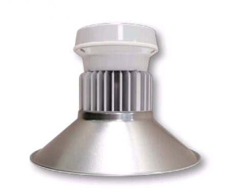 "Cree 59 Watt 14"" LED Round White Low Bay Fixture with Aluminum Reflector - 5000K 120V-277V 70 CRI 8000 Lumen (C-LB-A-RDAL-8L-50K-WH)"