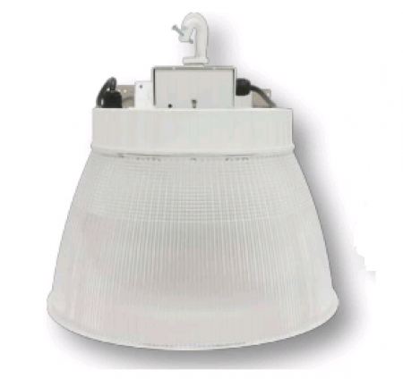 """Cree 160W 16"""" LED Round White High Bay Fixture with Prismatic Reflector - 5000K 120V-277V 70 CRI 18,500 Lumen - Includes Hook and 6' Cord with Straight Blade Plug (Lens not included) (C-HB-A-RDPC-18L-50K-WH)"""