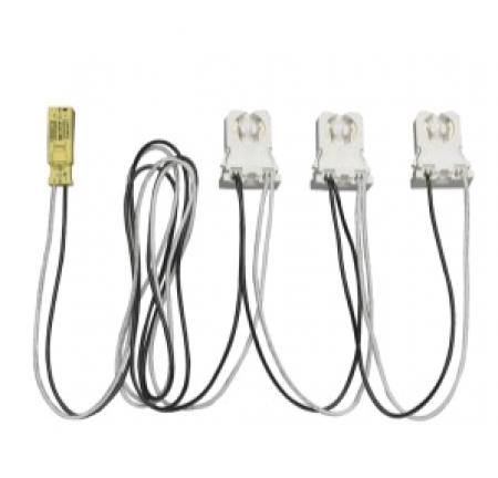 Satco 3 Light Ballast Bypass Wiring Harness - for Single Ended 15 Watt LED T8 Ballast Bypass Tubes (80/2628)