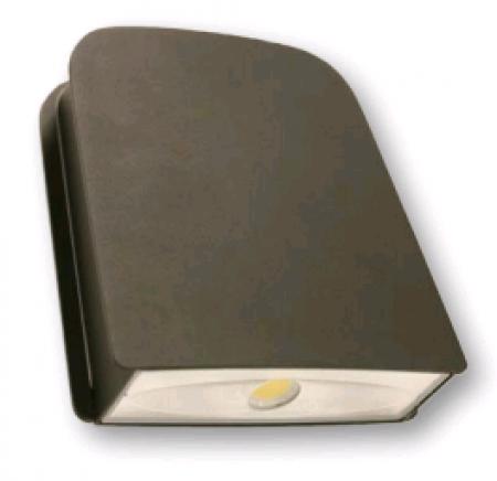 Cree 40 Watt LED Small Wallpack-Flood with Tempered Glass Lens - 4000K 120V-277V 70 CRI 3900 Lumen Dark Bronze -  Includes Mounting Plate (C-WP-A-SL-4L-40K-DB)