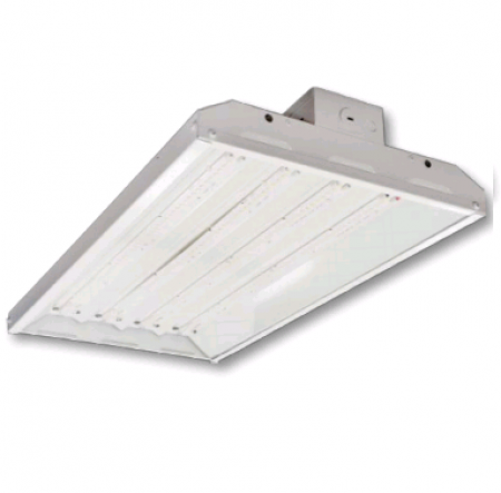"Cree 108 Watt 24"" LED 0-10V Dimmable Linear High Bay Fixture with Clear Acrylic Lens - 4000K 120V-277V 80 CRI 13,000 Lumen - Includes V-Hook and 36"" Chain - DLC Standard (C-PHB-A-L2F-13L-40K-WH)"