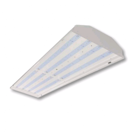 """Cree 220 Watt 48"""" LED Linear White High Bay Fixture - 5000K 120V-277V 80 CRI 28,500 Lumen - Includes V-Hook, 36"""" Chain and 6' Cord With Straight Blade Plug (Lens Not Included) - DLC Standard (C-HB-A-L4F-28L-50K-WH)"""