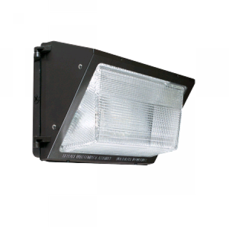 Sylvania 50 Watt LED Wallpack with Non-Cutoff Distribution - 4000K 120V-277V 70 CRI 5500 Lumen Bronze Fixture - DLC Standard (WALPAK2N/050UNV740/NC/BZ)