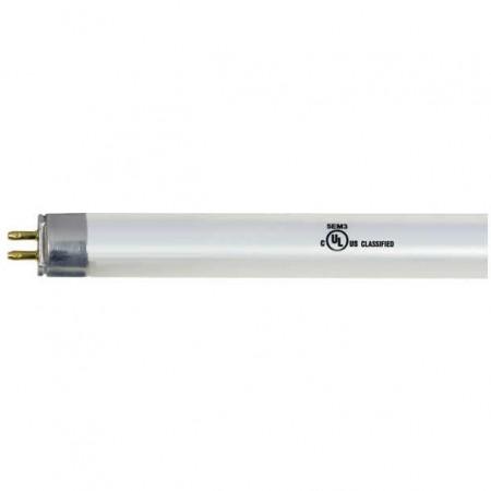 "Satco 25 Watt 48"" T5 LED 5000K 3400 Lumen 82 CRI Miniature Bipin (G5) Base White Linear Direct Wire High Output Non-Dimmable Tube (25T5/LED46-850/BP)"