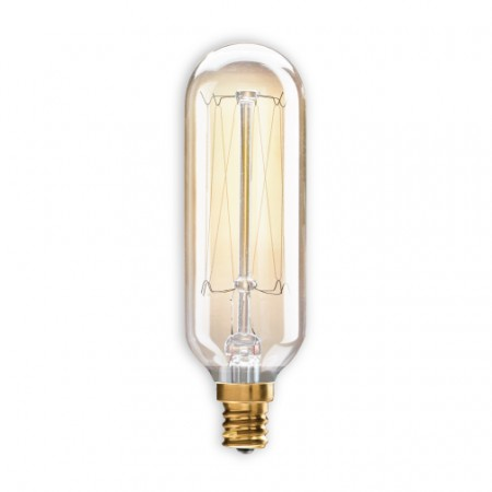 Bulbrite 132517 40 Watt Incandescent T8 120v 2200k Candelabra E12 Base Nostalgic Thread Dimmable