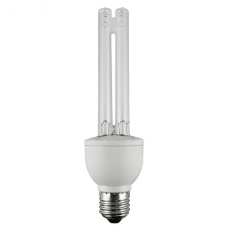 15 Watt Twin Tube CFL Medium (E26) Base Germicidal Bulb (CF15UV/MED)
