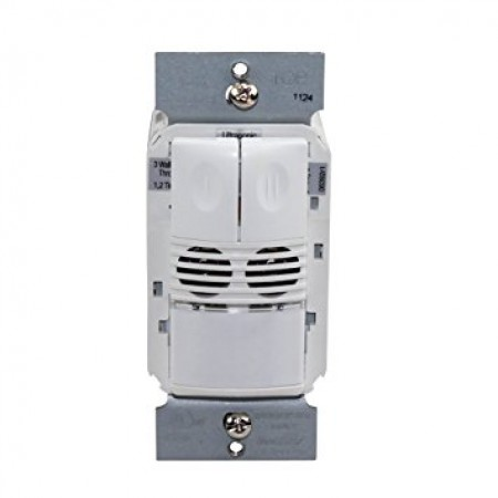 Watt Stopper Dual Technology Dual Relay White 120/277V Wall Switch Occupancy Sensor (DW-200-W)