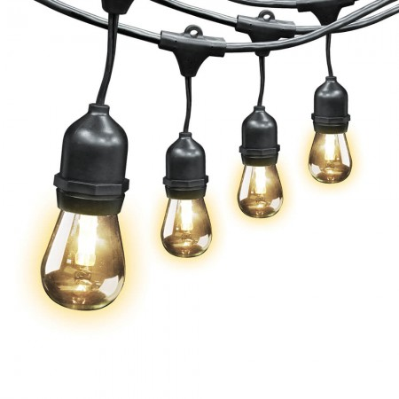 Feit Electric 30' Color Changing Weatherproof LED String Lights With Remote Control 15 Sockets 2' Apart 17 Bulbs Included (72018)