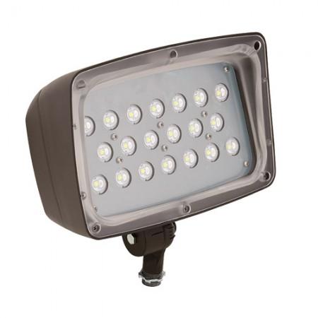 Hubbell 52 Watt LED 0-10V Dimmable Floodlight - 5000K 120-277V 80 CRI 4957 Lumen Bronze Fixture (FML-52)