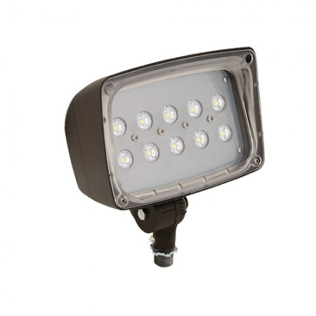 Hubbell 26 Watt LED 0-10V Dimmable Floodlight - 5000K 120-277V 70 CRI 2448 Lumen Bronze Fixture - DLC Standard (FSL-25)