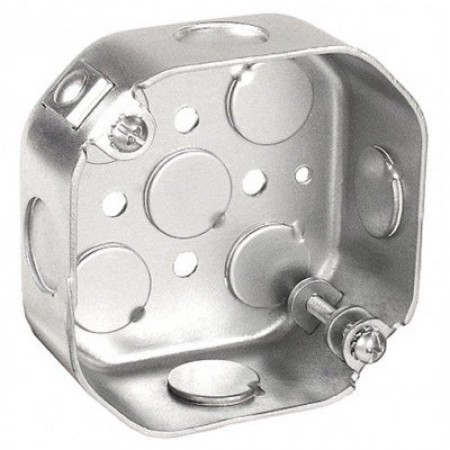 Hubbell-Raco 296 1-1//2-Inch Deep 1//2-Inch Side Knockouts 4-Inch Octagon Ceili.