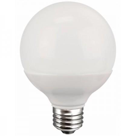 TCP 6 Watt G25 LED 2700K 120V 525 Lumen 80 CRI Frosted Dimmable Globe Bulb (L6G25D2527KF)