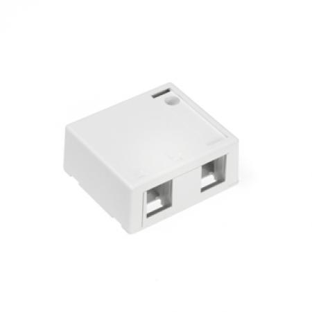 White Leviton 41091-1WN QuickPort Midsize Wallplate Single Gang 1-Port