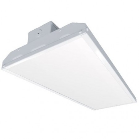 "Litetronics 75 Watt 24"" LED 0-10V Dimmable Linear Low Bay Fixture with Polycarbonate Frosted Lens - 5000K 120V-277V 80 CRI 9800 Lumen - Includes 8' Cord Installed - DLC Premium (LLB075UK250DL)"
