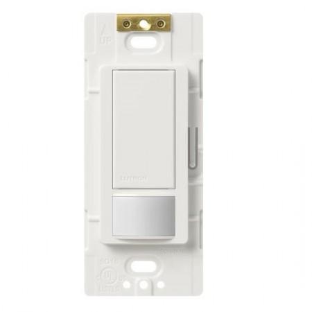 Lutron Maestro Passive Infrared (PIR) Single Circuit Occupancy Sensor -  120V-277V 6A Single Pole or Multi-Location White Switch (MS-OPS6M2-DV-WH)