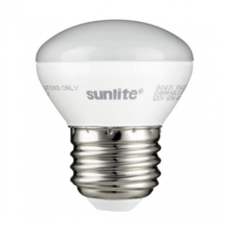 Sunlite 4 Watt R14 LED 2700K 120V 250 Lumen 80 CRI Medium (E26) Base Frosted Mini-Reflector Dimmable Flood Bulb (80431-SU)