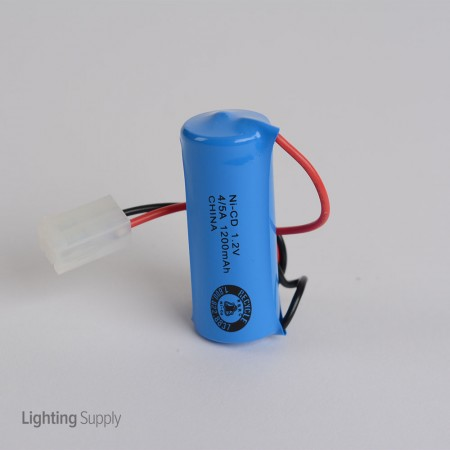 Replacement Battery 1.2 Volt 1200mAh rated with wire leads and connector (ELB1P201N1)