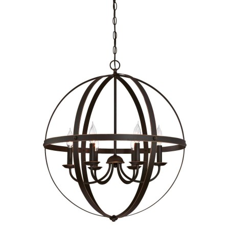 Westinghouse 6 Light Chandelier Oil Rubbed Bronze Finish with Highlights (6328200)