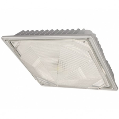 Cree 74 Watt LED White Square Canopy Light Fixture - 4000K 120V-277V 70 CRI 7900 Lumen - DLC Standard (C-CP-A-SQ-79L-40K-WH)