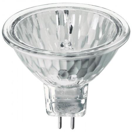 Ushio 50 Watt MR16 Halogen 3100K 12V Bipin (GU5.3) Base Covered Glass Flood Bulb - EXN (EXN/FG/ULTRA)