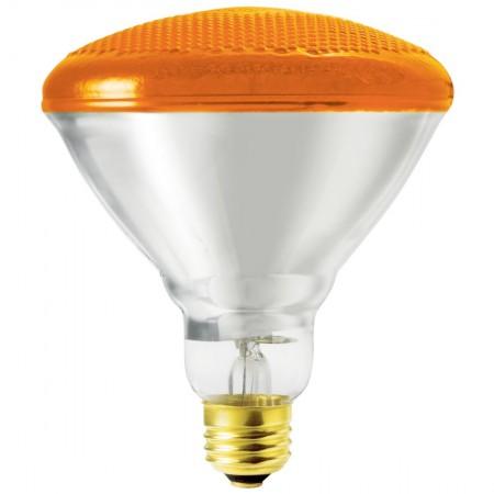 SLI 100 Watt BR38 Incandescent 120V Medium (E26) Base Amber Bulb (100BR38A)  sc 1 st  Lighting Supply & SLI 100BR38A 100 Watt BR38 Incandescent 120V Medium (E26) Ba