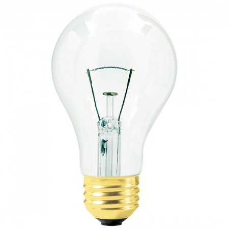 50 Watt A19 Incandescent 120V Medium (E26) Base Clear Commercial Oven Bulb (50A19/31)