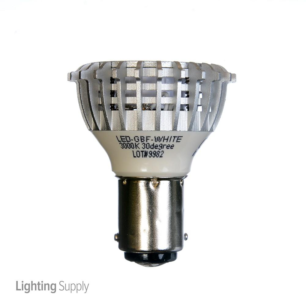 standard led gbf white 3 watt r12 led 3000k 12v 240 lumen do. Black Bedroom Furniture Sets. Home Design Ideas
