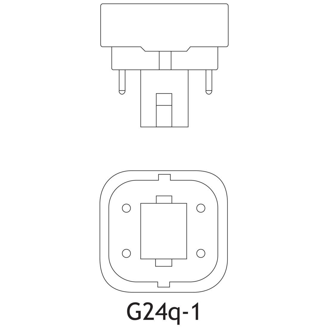 sylvania cf13dd  e  827  eco 13 watt t4 quad tube cfl 2700k 4 p