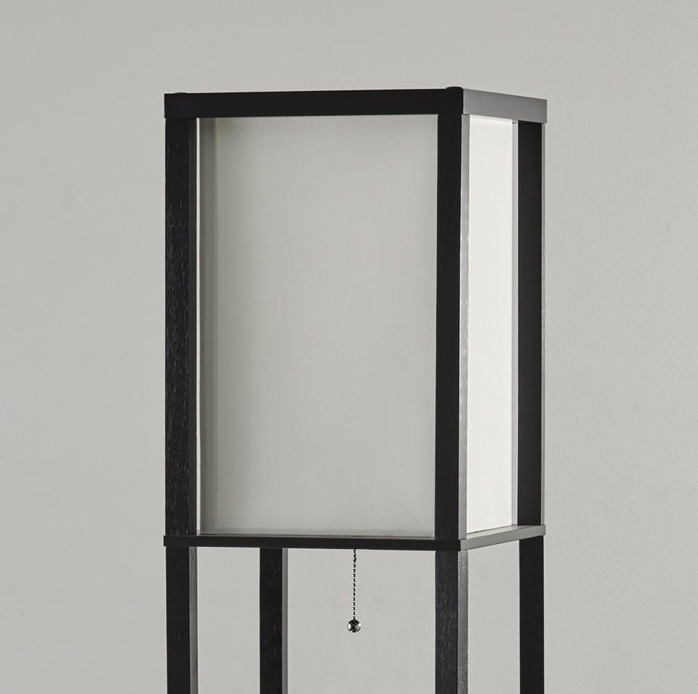 Adesso Black PVC Veneer On MDF Murray Three Drawer Shelf