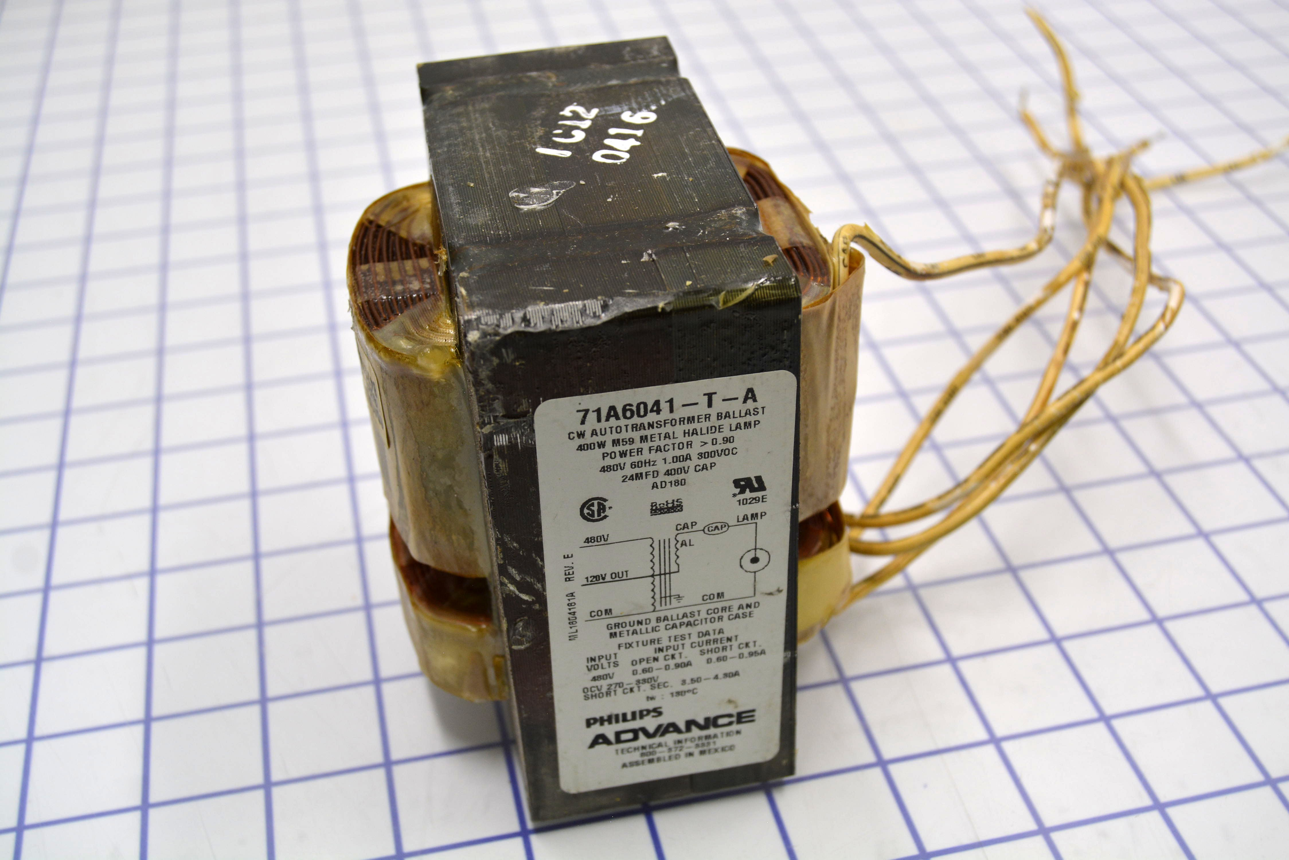 Advance 71A6041001D Metal Halide Ballast 400 Watt M59 480V/1