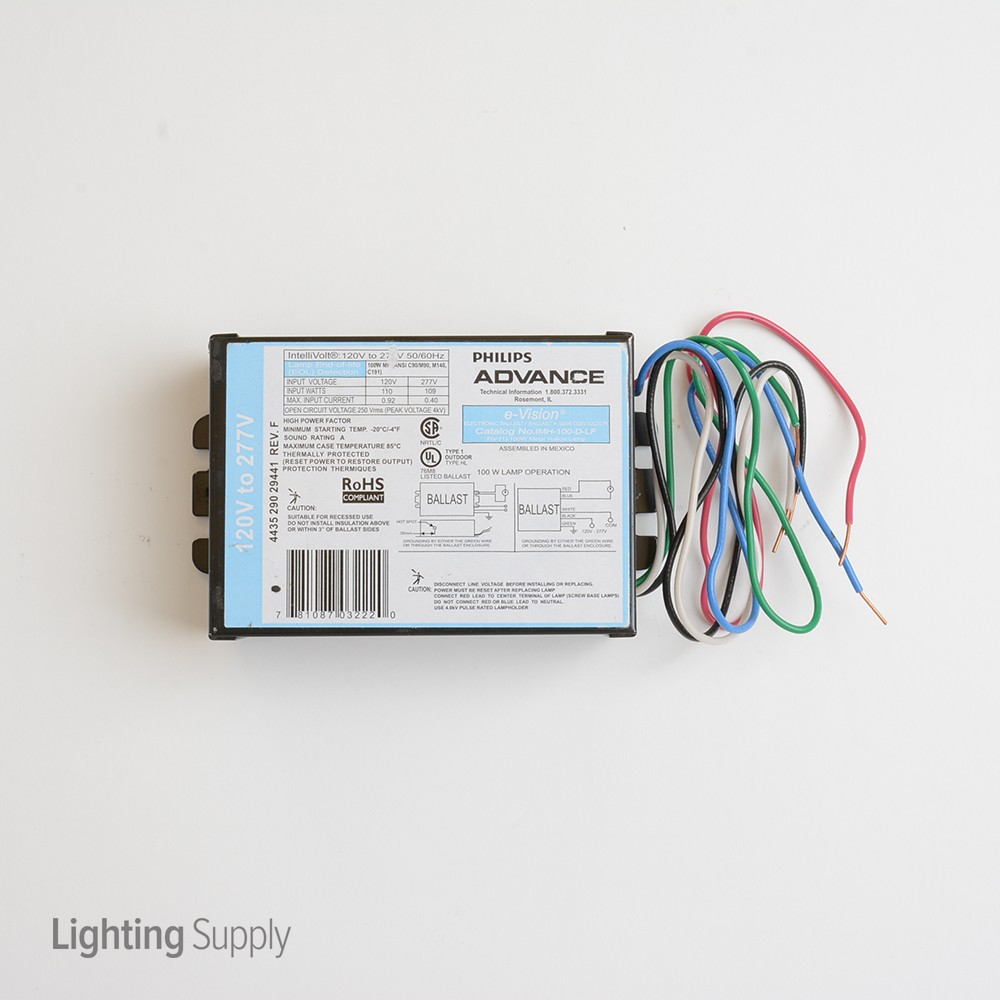 Advance Imh100dlf Metal Halide Electronic Ballast For 1 10