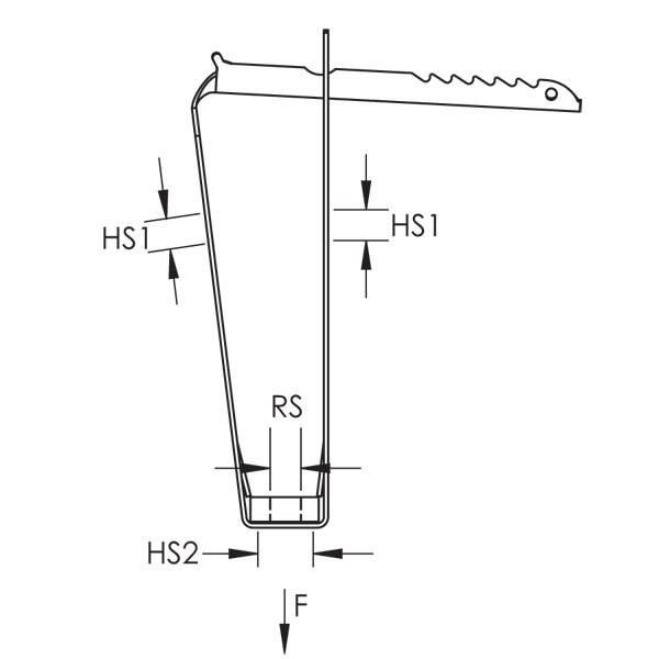 caddy tdht4 tdht trapezoidal deck hanger with nut  1  4 inch