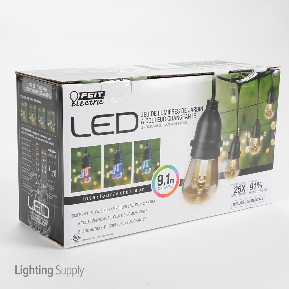Feit Electric 72018 30 Feet Color Changing Weatherproof Led