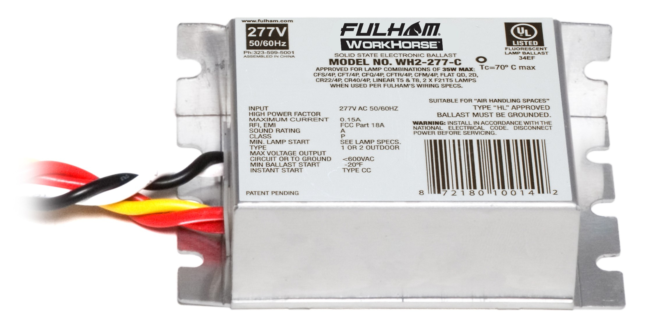 fulham wh2 277 c instant start electronic fluorescent workho