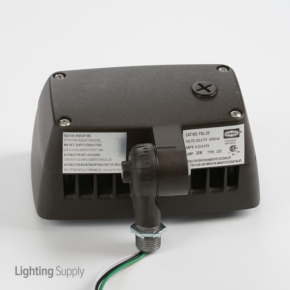 Hubbell Fsl 25 26 Watt Led 0 10v Dimmable Floodlight 5000k