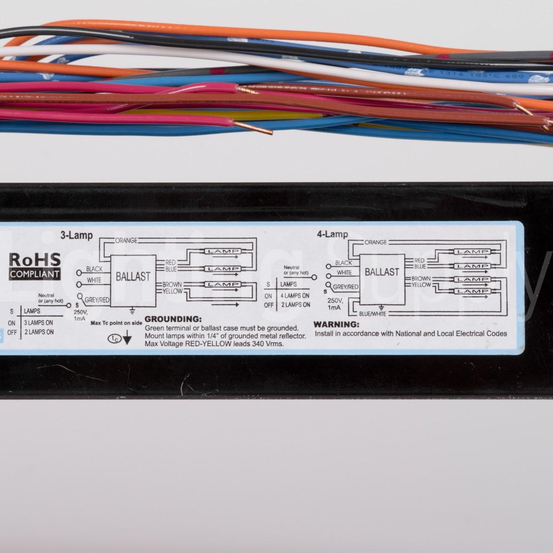 Advance ICN-4S54-90C-2LS-G Electronic Fluorescent Programmed