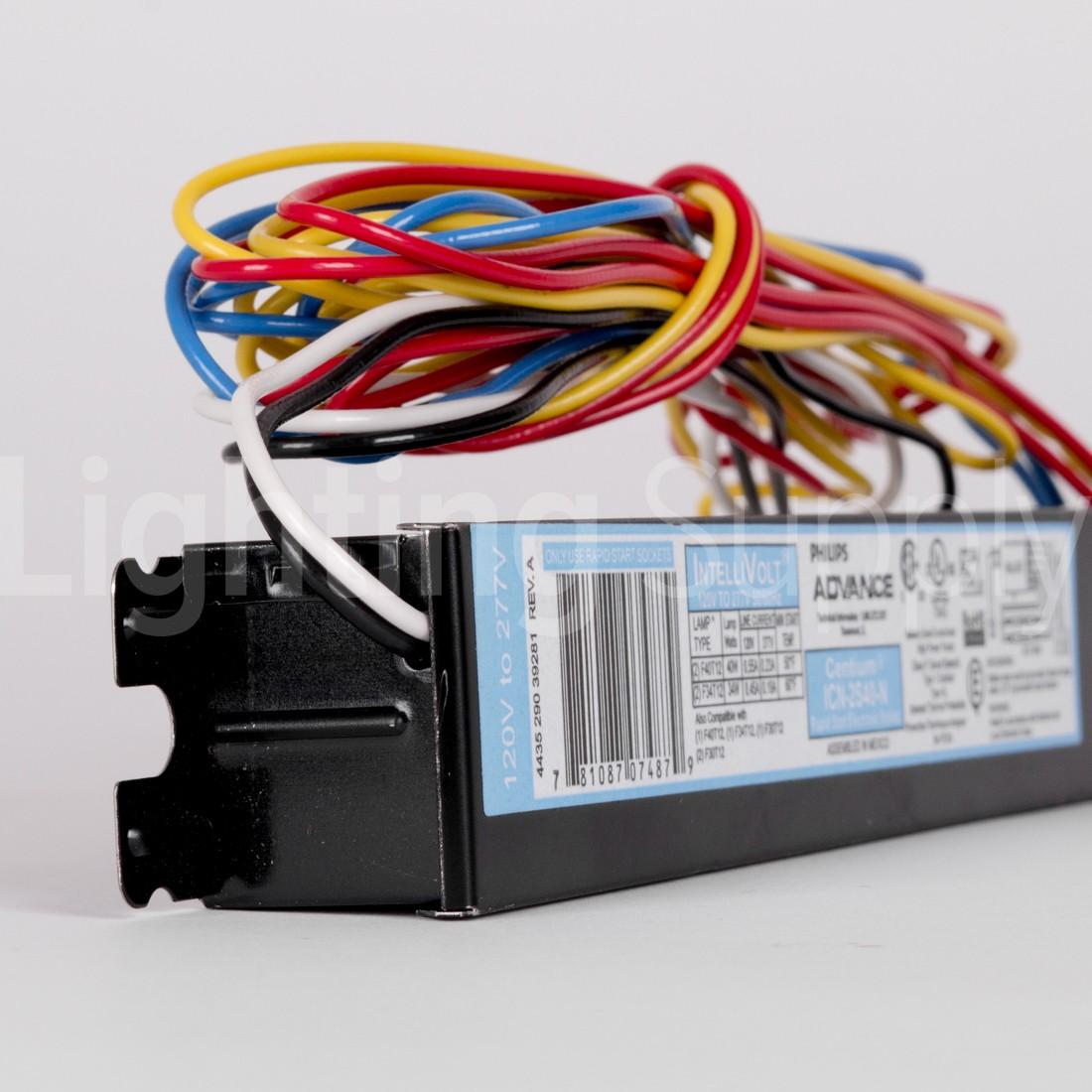 Advance Icn2s40n Rapid Start Fluorescent 120v 277v Electroni