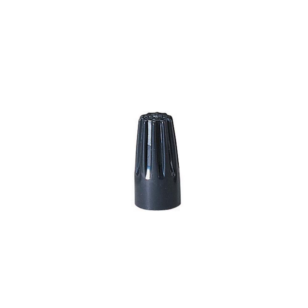 Ideal 30-3629 Wire-Nut Wire Connector, Hi-Temp., 73B, Black,