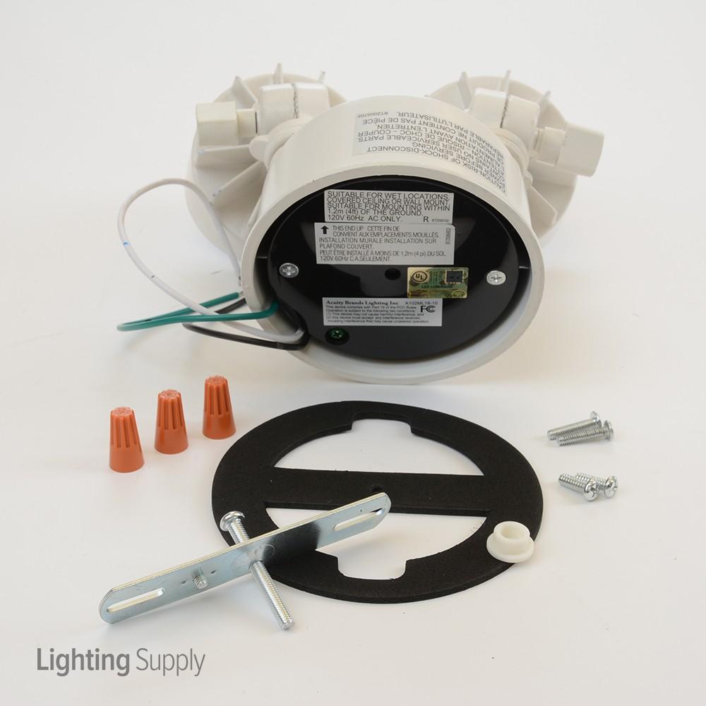 Lithonia Oflr6lc120pwh 20 Watt Led Dual Head Security Floodl