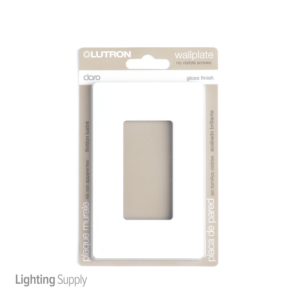 Lutron Cw 1 Wh Claro Wallplate 1 Gng Wh Cw 1 Wh