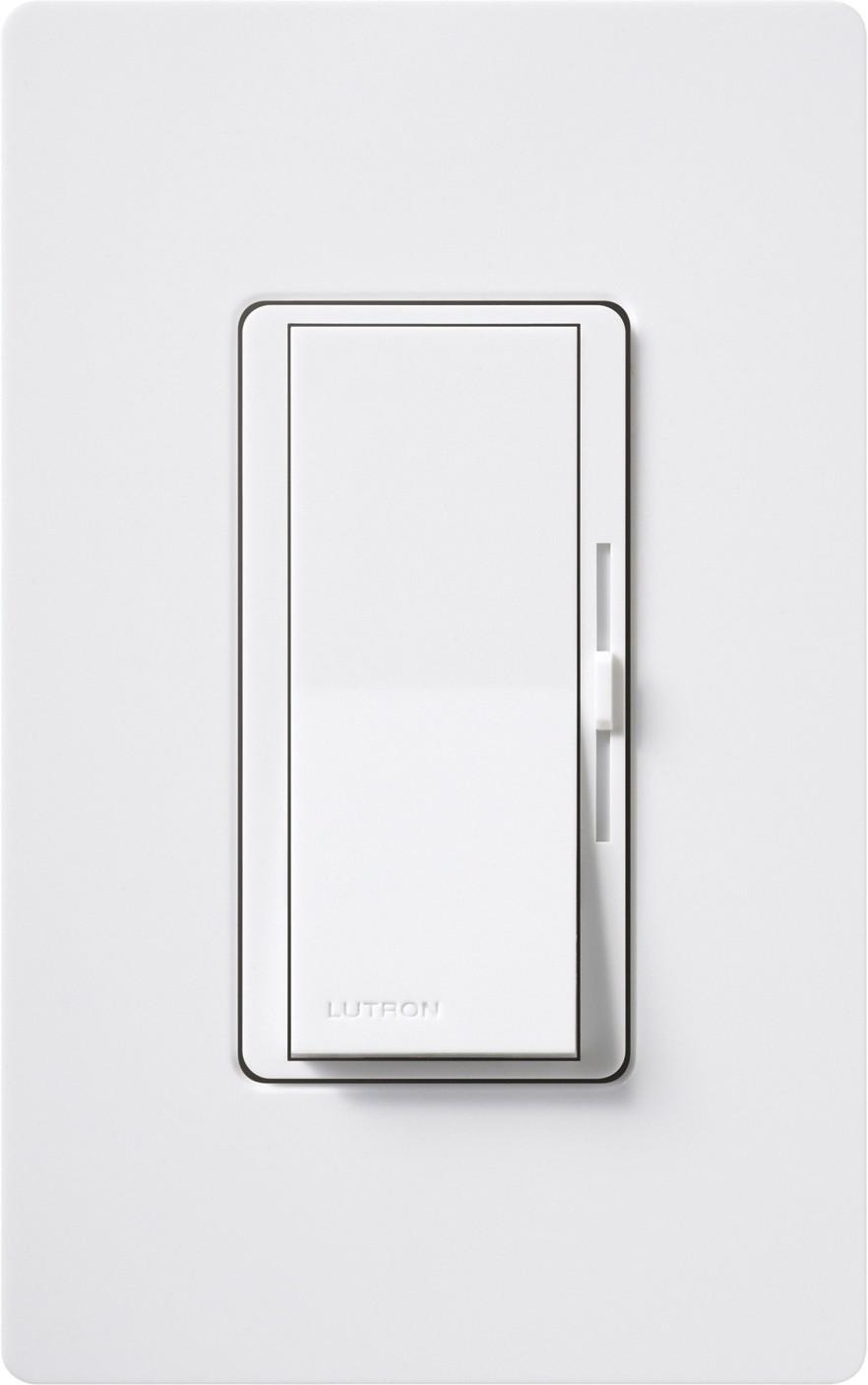 Lutron Dv 600p Wh Diva White Incandescent Paddle Dimmer 120v