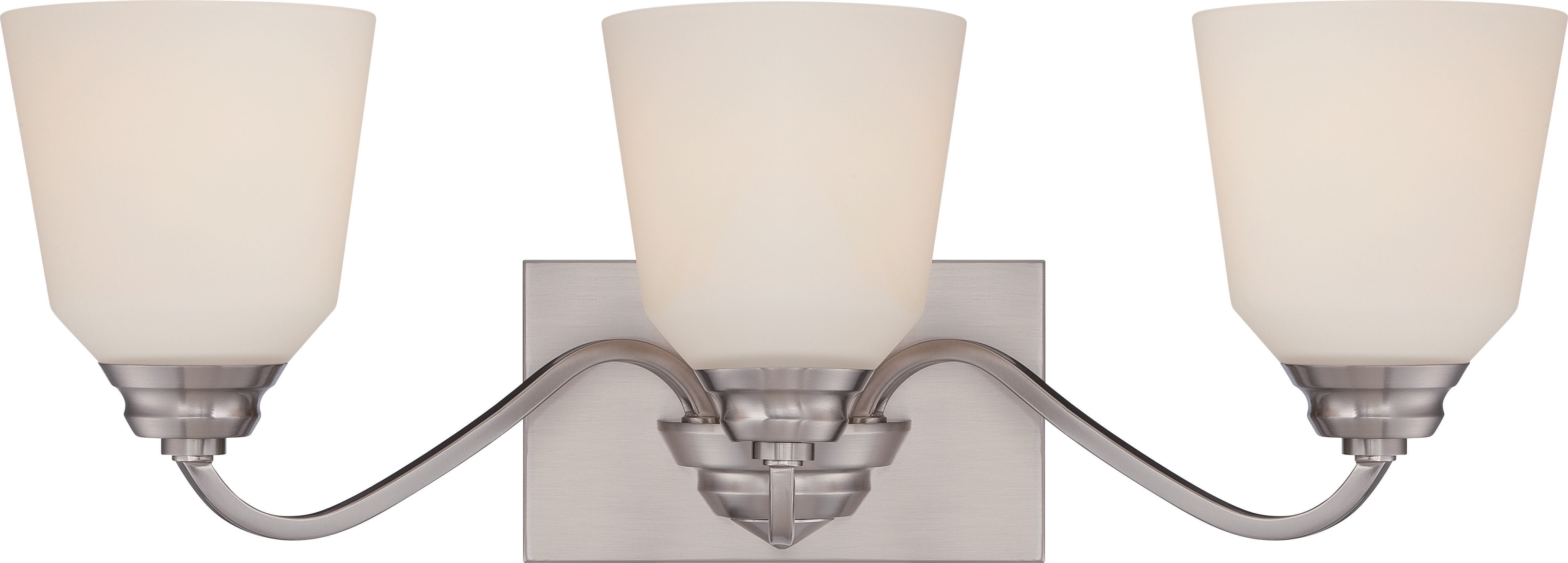 3 Light Vanity Fixture With Satin White